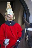 在伦敦的皇家 horseguard — 图库照片