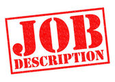 JOB DESCRIPTION  — Stock Photo
