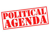 POLITICAL AGENDA — Stock Photo