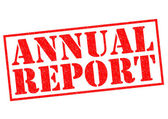 ANNUAL REPORT — Stock Photo