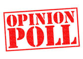 OPINION POLL — Stock Photo