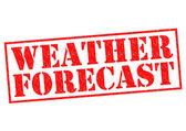 Прогноз погоды — Стоковое фото