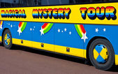 Magical Mystery Tour Bus in Liverpool — Stock Photo