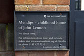 Childhood Home of John Lennon in Liverpool — Stock Photo