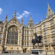 Постер, плакат: Richard the Lionheart and the Houses of Parliament