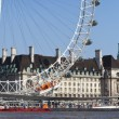 The London Eye, County Hall and the River Thames — Stock Photo #46819155