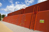 Climbing Wall in the Queen Elizabeth Olympic Park — Stockfoto