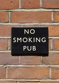 No Smoking Pub — Stock Photo