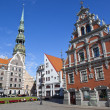 House of the Blackheads and St. Peter's Church in Riga — Stock Photo #48048035