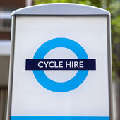 Cycle Hire in London — Stock Photo
