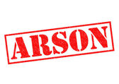ARSON Rubber Stamp — Stock Photo