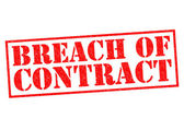 BREACH OF CONTRACT — Stock Photo