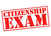 CITIZENSHIP EXAM — Stock Photo