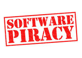 SOFTWARE PIRACY — Stock Photo