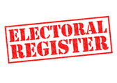 ELECTORAL REGISTER — Stock Photo