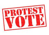 PROTEST VOTE — Stock Photo