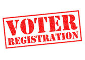 VOTER REGISTRATION — Stock Photo