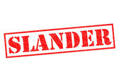 SLANDER — Stock Photo