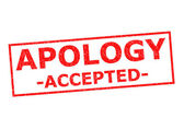 APOLOGY ACCEPTED — Stock Photo