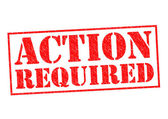 ACTION REQUIRED — Stock Photo