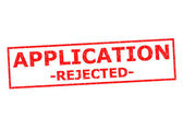 APPLICATION REJECTED — Stock Photo