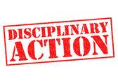 DISCIPLINARY ACTION — Stock Photo