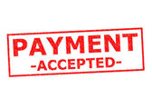 PAYMENT ACCEPTED — Stock Photo