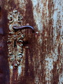 Rusty doorknob — Stock Photo