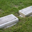 Stock Photo: Separate Gravestones for Married Couple