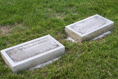 Separate Gravestones for Married Couple — Stock Photo