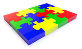 Colorfull jigsaw puzzle — Stock Photo