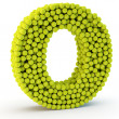 3D letter O made from tennis balls — Stock Photo #48995649