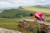 Yoga meisje — Stockfoto