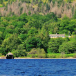 Secluded Boathouse o a Scottish Loch. — Stock Photo