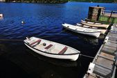 Small boats at a Jetty. — Stock Photo