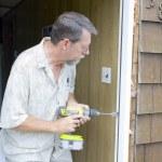 Elderly carpenter working — Stock Photo #6769384