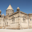 Church outside yerevan armenia — Stock Photo