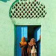 Stock Photo: Harar ethiopiold town city mosque girls children