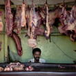 Stock Photo: Butcher shop in harar ethiopia