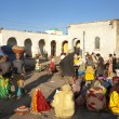 Stock Photo: Market place in harar ethiopia