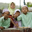 Muslim children in bali, indonesia — Stock Photo