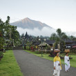Mount agung from besakih temple in bali, indonesia — Stock Photo