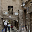Street scene in cairo old town egypt - 图库照片