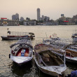 Nile riverside with boats in cairo egypt — Stock Photo