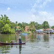 River village in rural cambodia - 图库照片