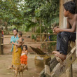 Stock Photo: Village scene in cambodia