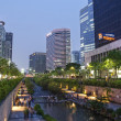 Stock Photo: Cheonggyecheon stream in central seoul south korea