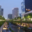 Cheonggyecheon stream in central seoul south korea — Stock Photo #16837745