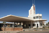 Futurist modernist building in asmara eritrea — Stock Photo