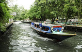 Canal ferry boat bangkok thailand — Stock Photo